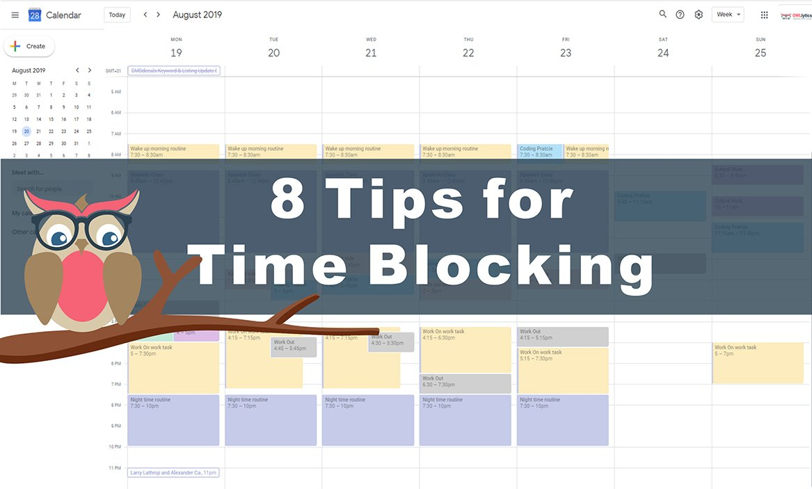 8 tips for Time Blocking with OWLlytics
