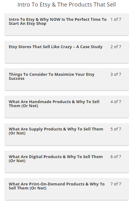 The Etsy Super Seller Master Course By OWLLytics - Course Sections 1 and 2