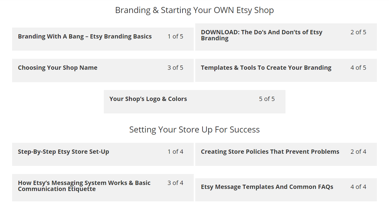 The Etsy Super Seller Master Course By OWLLytics - Course Sections 3 and 4