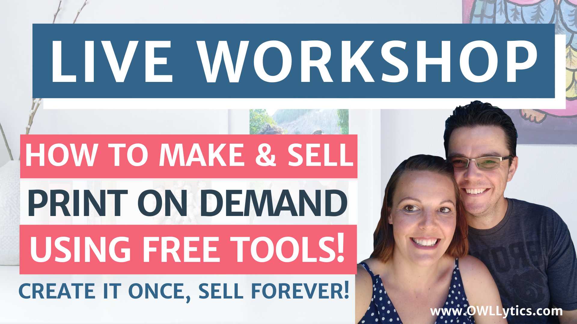 Free Workshop: Learn How To EASILY Make & Sell Digital Products Using Free Canva Tools!