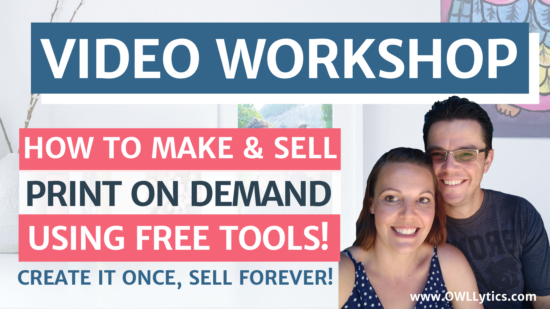 VIDEO Workshop: Make & Sell Print On Demand Products Using Only FREE Canva Tools!