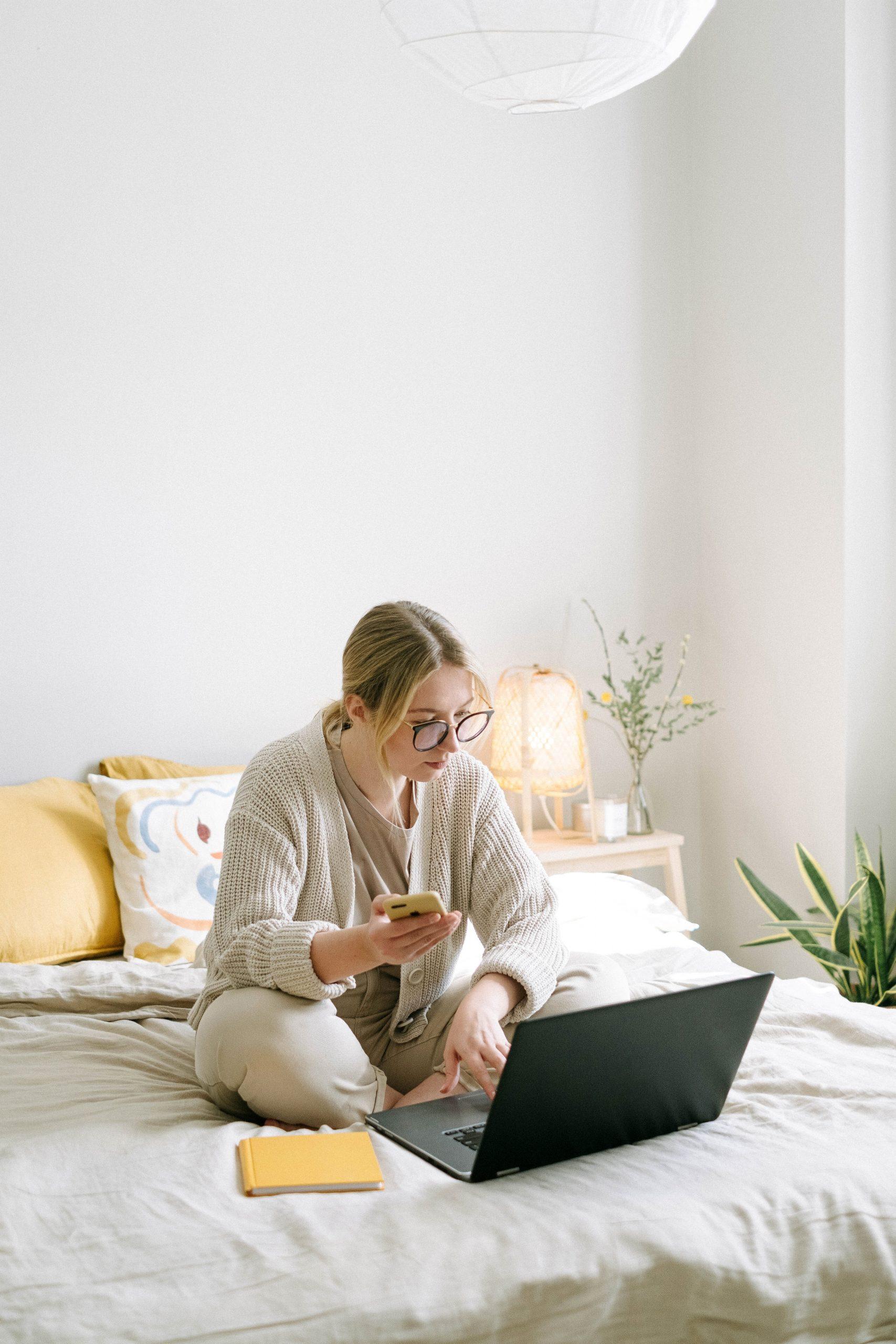 Woman checking he message } OWLLytics.com